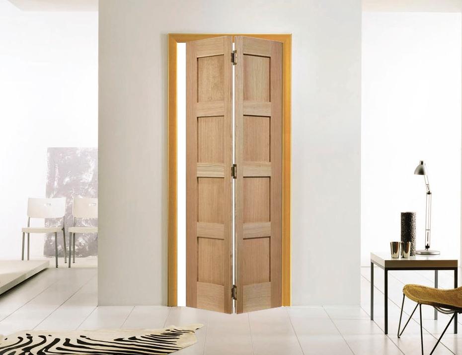 Skládací interiérové dveře - zdroj: internaldoors.co.uk