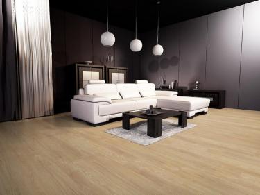 Lepená vinylová podlaha Vepo Dub Trend v obývacím pokoji